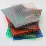 policarbonato da névoa do preço de 6mm folha plástica Kerala da cavidade da telhadura do anti