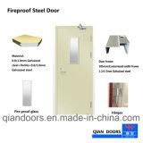 ガラスが付いている非常口の火評価される鋼鉄ドア