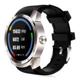 心拍数のモニタのスマートな腕時計のアンドロイド4.1 Mtk6572Aは3G GPSの歩数計のブレスレットを防水する