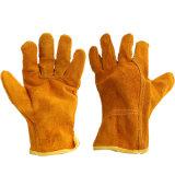 Luvas de Solda Wear-Resistant Cowhide amarelo e Non-Slip