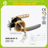 Satin Gold Color Bathroom Tubular Lever Lock Design Double Handle Door Lock