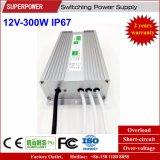 Fonte de alimentação impermeável IP67 do interruptor do diodo emissor de luz da tensão constante 12V 300W