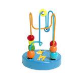 Mini brinquedo de madeira dos grânulos para bebês e infantes