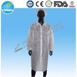 Nonwoven使い捨て可能な実験室のコートの訪問者の衣服の実験室のガウン