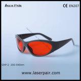 Protección Eyewear del laser de las gafas de seguridad de laser Ghp-2 para 266nm, 355nm, 515nm, 532nm excímero, ultravioleta, Ce verde En207 de la reunión del laser