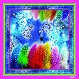 カスタムデジタル印刷100%の絹のスカーフ(F13-0027)