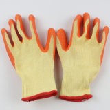 Перчатки руки безопасности латекса вкладыша Polycotton высокого качества Coated