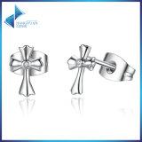 simbolo classico dell'argento sterlina 925 di 100% degli orecchini della vite prigioniera della traversa di fede