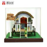 Mini miniatura de madera de juguete de bricolaje Casa