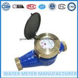 Mètre humide d'activité de l'eau de cadran de corps en laiton de Multi-Gicleur de Dn40mm avec les pièces en laiton