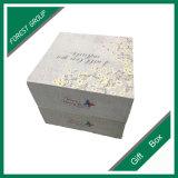 Flor la impresión de logotipo personalizado caja plegable