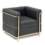 Mobilia stabilita di svago del salone del sofà di cuoio moderno (T011A)