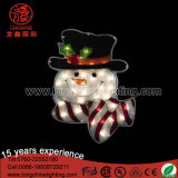Waterproof 2D Street White Snowman Shape Decoration Light for Christmas Home