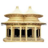 Pabellón de madera con características chinas