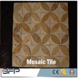 De Natuurlijke Tegels van uitstekende kwaliteit van het Mozaïek van de Steen Gouden Beige Marmeren