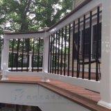 屋外の円形のステンレス鋼26インチの黒によって電流を通されるBalustersの塀