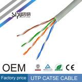 Cabo de LAN por atacado do cabo Cat5 da rede de Sipu Cat5e para o Internet
