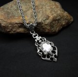 Нержавеющая сталь ювелирных изделий 316L способа ожерелья вставки Zircon привесная