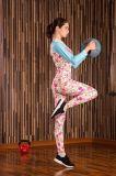 Lange Hülsen-Feuchtigkeit Wicking athletische Spandex+Polyester der Frauen Gymnastik-Sportkleidung