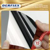 Noir de la colle Blockout autocollants en vinyle PVC Glacé/autocollants en vinyle blanc mat