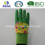 De kinderen werken Handschoen