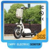 Suspensão da frente dobrável 350W Zappy Scooter elétrico de 3 rodas