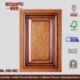 Porte en armoires de cuisine en acajou en bois massif (GSP5-017)