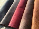 Le tissu de polyester Tissu en daim pour canapé couvrant (K033)