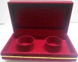 Caselle di lusso rosse della cassa del regalo di memoria dei monili della vigilanza del braccialetto del braccialetto del velluto di 100% impostate