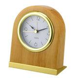Despertador silencioso de corpo de madeira com luz