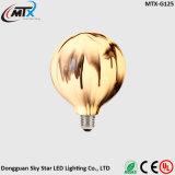 a corda do globo ilumina o bulbo decorativo do fio de cobre da corda do diodo emissor de luz da luz feericamente do feriado do Natal