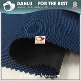 600d impermeabilizan la tela cubierta Vc teñida hilado de Oxford del negro del poliester para el uso del bolso