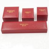 Cadre de estampage d'or de boîte en plastique de cuir de Leatherette de suède (J37-E4)
