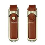 Ledernes Speicher-grelle Platte USB-Blitz-Laufwerk PU-USB3.0