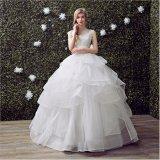 Robe de mariage de mise en couches perlante gracieuse de robe de bille de Tulle de lacet (Dream-100077)