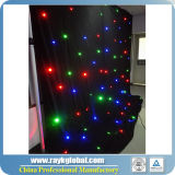 RGB Color 2X3m LED Star Drop / Cortinas de tela