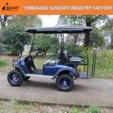 2+2のシートのFoldableシートが付いている電気ゴルフカート