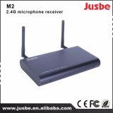 receptor en doble canal M2 del sistema sin hilos del micrófono 2.4G