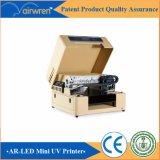 Impressora de jato de tinta plana digital UV Máquina de impressão em plástico de tamanho A3 com tinta branca