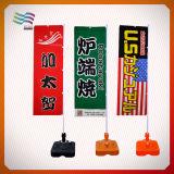 Tecido de poliéster de ambos os lados impressos sinalizadores de praia de penas personalizada