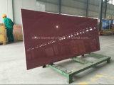 Rojo Panel Nano cristalizado piedra de vidrio para la pared y encimera