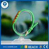 Braccialetto astuto di stampa del Silkscreen di identificazione del silicone del Wristband MIFARE 1k S50 RFID di RFID