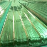 플라스틱 건물 루핑 온실 차 헛간을%s 폴리탄산염 단단한 물결 모양 장
