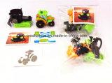 Nuevos juguetes ensamblados DIY del carro del granjero del modelo con divertido