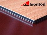 Comitato composito di alluminio di colore di legno con struttura differente