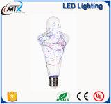 el centelleo enciende el bulbo bajo ahorro de energía de la cola de la luz C35 LED de la vela E14