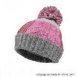 Sombrero hecho punto sombrero de encargo de la gorrita tejida del sombrero POM POM del Knit del sombrero de la gorrita tejida