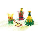 Kind-Blumen-Korb-Baustein-Spielzeug