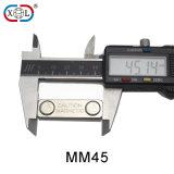 het Kenteken van de Lengte van 45mm Magnetisch met Twee Magneten