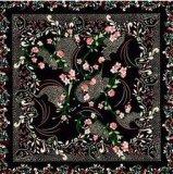 Klassisches leichtes Digital-Drucken-Silk Satin-Schal